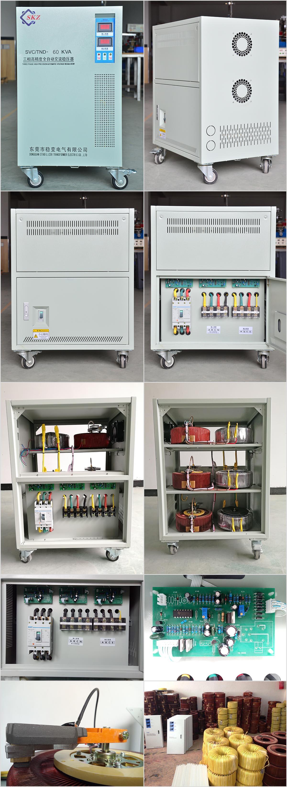 Three Phase Servo Voltage Stabilizer 60KVA